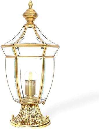 FABAKIRA Lámpara de Pie Exterior Iluminación Transparente Luz de Jardín Césped Columna Faro Luz al Aire Libre: Amazon.es: Iluminación