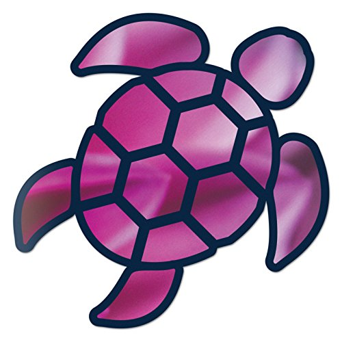 Red Hound Auto Sea Turtle Pink Purple Sticker Decal Wall Tumbler Cup Window Car Truck Laptop 4 Inches