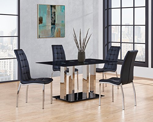Global Furniture D252DT Dining Table, (Global Furniture Usa Glass)