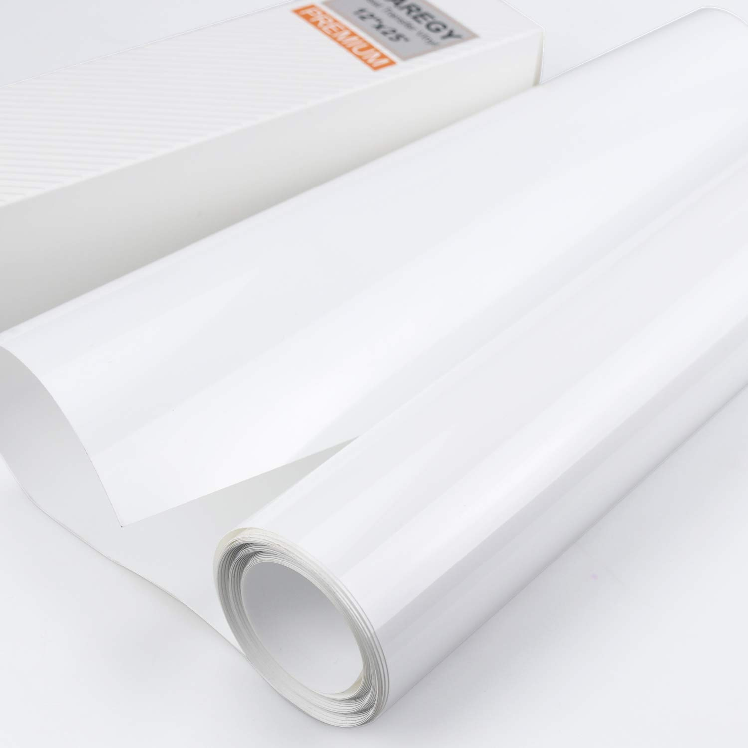 HTV 12 x 25ft Roll White Iron On Heat Transfer Vinyl
