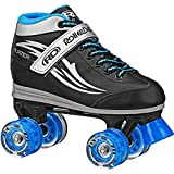 Roller Derby Boys Blazer Lighted Wheel Roller Skate, Black, Size 13