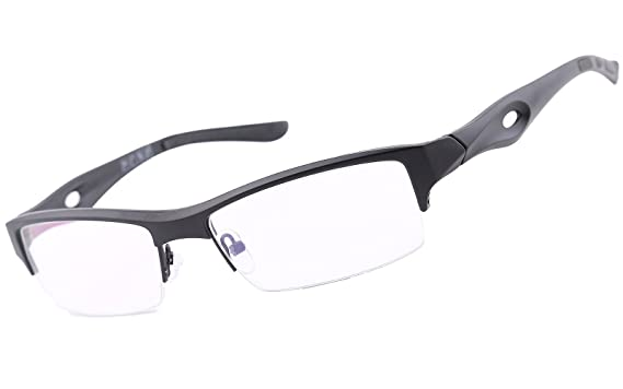 Amazon.com: Agstum TR90 Mens Womens Sports Optical Half Rim Glasses ...