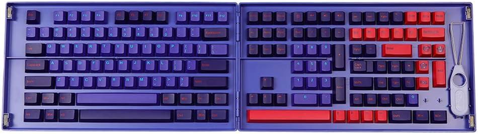 EPOMAKER AKKO NEON Cherry Profile Double-Shot PBT 108 Full Keycaps Set, with 49 Extra Novelty Keycaps, Custom Storage Box for Mechanical Keyboard Replacement (NEON Cherry Profile KEYCAPS)