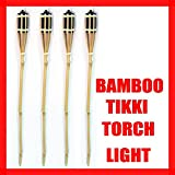 4 Bamboo Torch Tiki Tropical Decor Luau Party