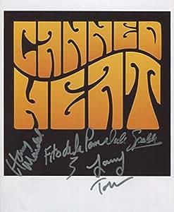 Canned calor (banda) foto firmada 1st generación impresión Ltd 150+ Certificado (2)