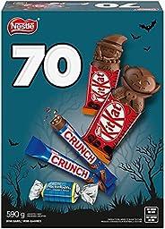 NESTLÉ Mini Halloween Chocolate & Candy Bars 70-Pack, 5