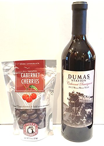 Dumas Station Walla Walla Valley Cabernet Sauvignon + Chukar Cherries Gift Set, 1 x 750 mL
