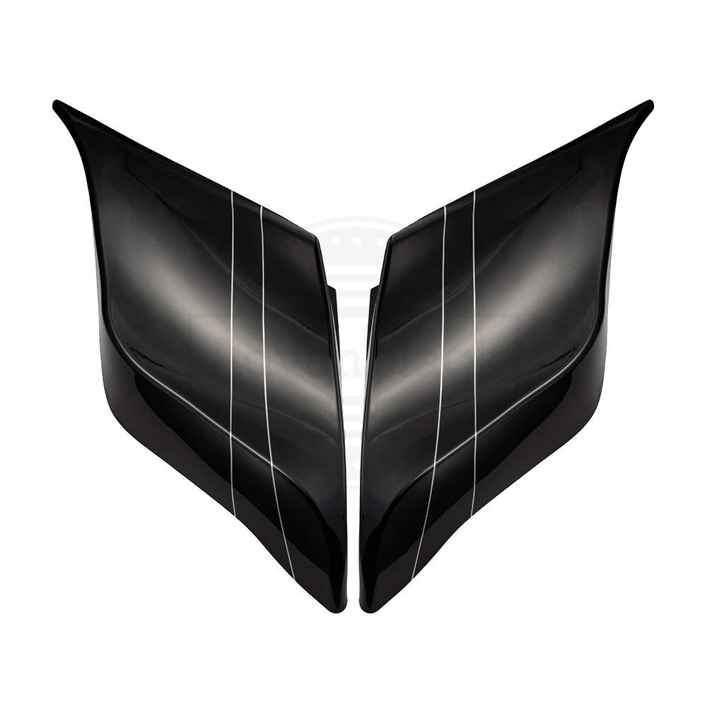 Advanblack Denim//Matte Black Extended Side Covers Stretched Panels Fit for Harley Davidson Touring Street Glide Road Glide 2014 2015 2016 2017 2018 2019