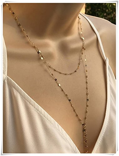 Gold Convertible Necklace, Gold Wrap Lariat, Jaclyn Hill (Gold Wrap Necklace)