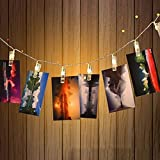 LED Photo Clips String Lights,WONFAST Battery Operated 20 LED Displaying Pictures Fairy Lights for Hanging Pictures Indoor Outdoor Party Christmas Decoration (Warm White)
