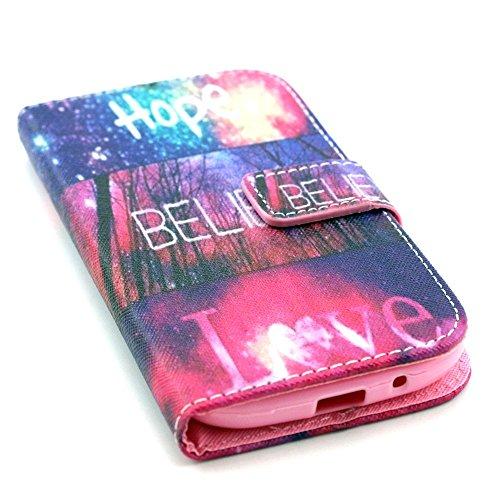Samsung Galaxy Grand Neo Plus (i9060) Wallet Funda,Carcasa PU Leather Cuero Suave Impresión Cover Con Flip Case TPU Gel Silicona,Cierre Magnético,Función de Soporte,Billetera con Tapa Libro Tarjetas p Cielo rosa