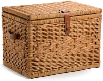 Amazon Com The Basket Lady Deep Wicker Storage Trunk Large 24