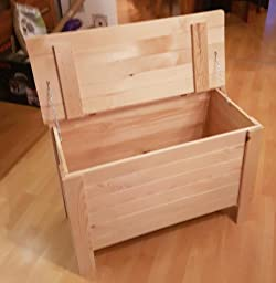Amazon.de: Holzkiste Holztruhe Truhe Kiste aus Holz mit Deckel
