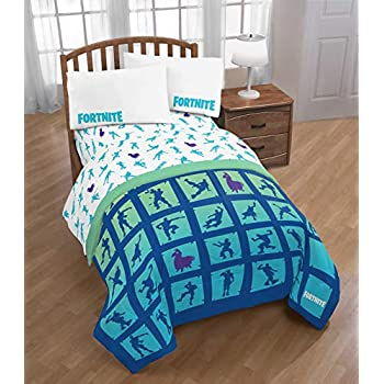Amazon Com Fortnite Boogie Bomb 5 Piece Twin Bed Set