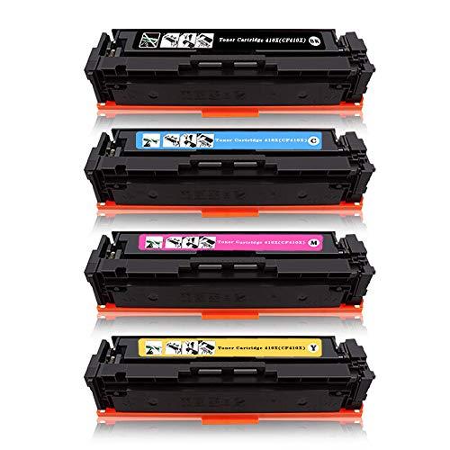 High Yeild 410X(CF410X) Compatible for HP Color Laserjet Pro MFP M477fdw M477fnw Multi-Function Printer Color Toner Cartridge (Black/Cyan/Magenta/Yellow, ()