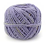CleverDelights Vintage Lavender Jute Twine - 100 Yards - 2mm Diameter - Eco-Friendly Natural Jute String