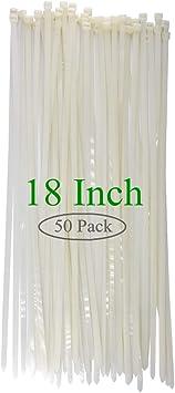 50 lb Test 14 Natural Nylon Zip Ties 1000 Pack