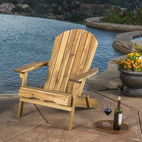 Milan Outdoor Folding Wood Adirondack Chair by Christopher Knight Home