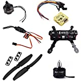 Glass Fiber Mini 250 FPV Quadcopter 1806 2280KV Motor CC3D Flight Controller glass fiber black, by LC Prime
