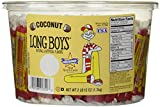 Atkinson Candy Long Boys Coconut Tub - Creamy Caramels and Real Coconut Flakes, Fresh Quality Candy - 130 Pieces, 12 Ounces