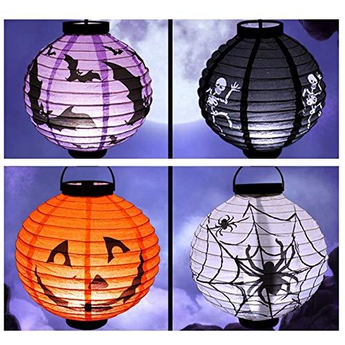 Lampion- Halloween Pumpkin Lights Glowing Paper Lanterns Portable Decoration Props Lighting 4 Colors 05d - Lantern Stainless With Bulb 3500k Lantern LampionLamp Lantern Lampion Flowe ()