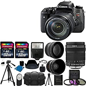 "Canon EOS Rebel T6s DSLR Camera USA Warranty With Canon EF-S 18-135mm f/3.5-5.6 IS STM Lens + 58mm 2x Professional Lens +High Definition 58mm Wide Angle Lens + Auto Flash + 59"" Strong lightweight Tripod + UV Filter Kit With 64GB Complete Deluxe Accessory"