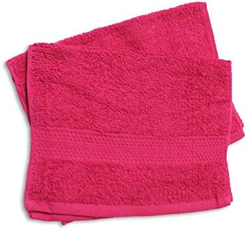 Set di 2 asciugamani ospite TINTA UNITA Rosso 450 g//m2