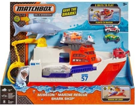 Matchbox Car-Go Commander Shark Ship, Floats in Water and Rolls on Land by Matchbox: Amazon.es: Juguetes y juegos