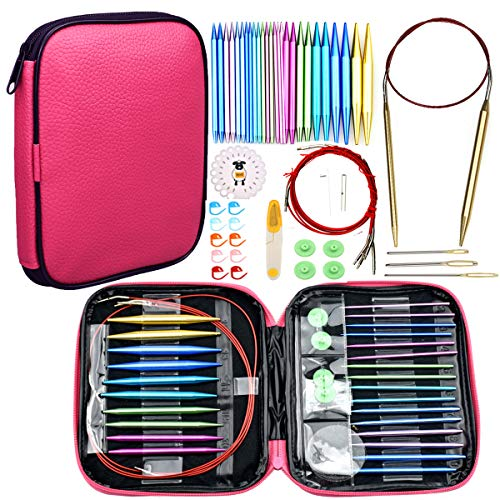 Looen 37pcs Aluminum Circular Knitting Needles Set for sale  Delivered anywhere in USA