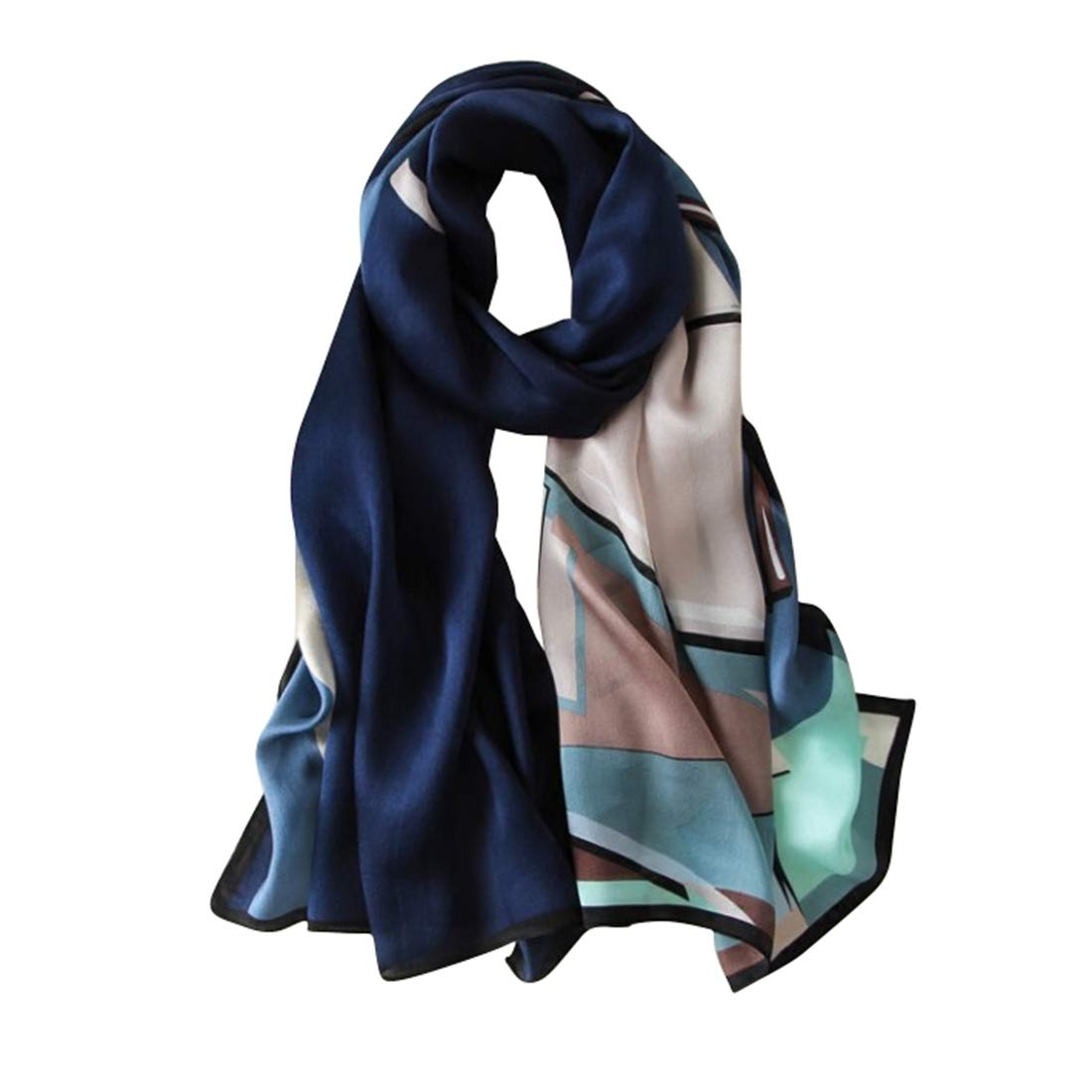 Color : Blue RICHARD BALDWIN Lady Large Size Seaside Adumbral Sunscreen Silk Shawl Summer Shawl Rectangle