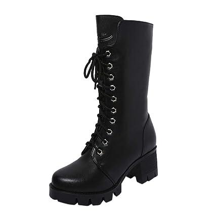 ZARLLE Zapatos Mujer OtoñO Invierno 2018 Botas De Plataforma Zapatos De TacóN Botines Zapatos Interiores Botines
