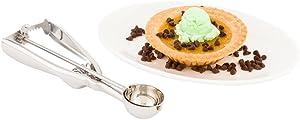 #70 (.50 oz) Ice Cream Scoop, Cookie Scoop, Portion Control Scoop - Squeeze Handle for Food Release - Stainless Steel - Met Lux - 1ct Box - Restaurantware