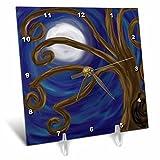 Cheap 3dRose dc_23195_1 Spiral Tree Abstract Moon Night Digital Art-Desk Clock, 6 by 6-Inch