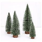 Fxbar Mini Christmas Tree Stick White Cedar Desktop Small Christmas Tree Festival Home Decor, Green 10cm to 30cm (10CM)