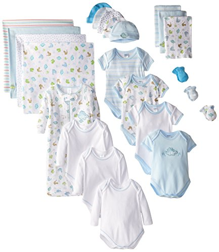 Spasilk 23-Piece Essential Baby Layette Set — Newborn Baby Clothes — Baby Boy and Baby Girl — Baby Shower Gift