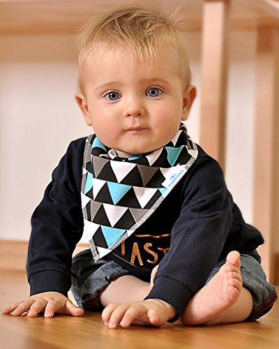 Baby Boy Bandana Drool Bibs - Set of 6 Cute Designs Extra-Soft Organic Cotton Bib for Delicate Skin, Perfect for Teething, Drooling, Breast Feeding, Burp & Spit-Up Messes, Outfit Accessory by maxamStars (Image #7)