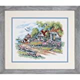 Dimensions Needlecrafts Stamped Cross Stitch, Cottages by The Sea