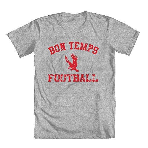 Bon Temps Football T-shirt - GEEK TEEZ Bon Temps Football Youth Boys' T-Shirt Gray Medium