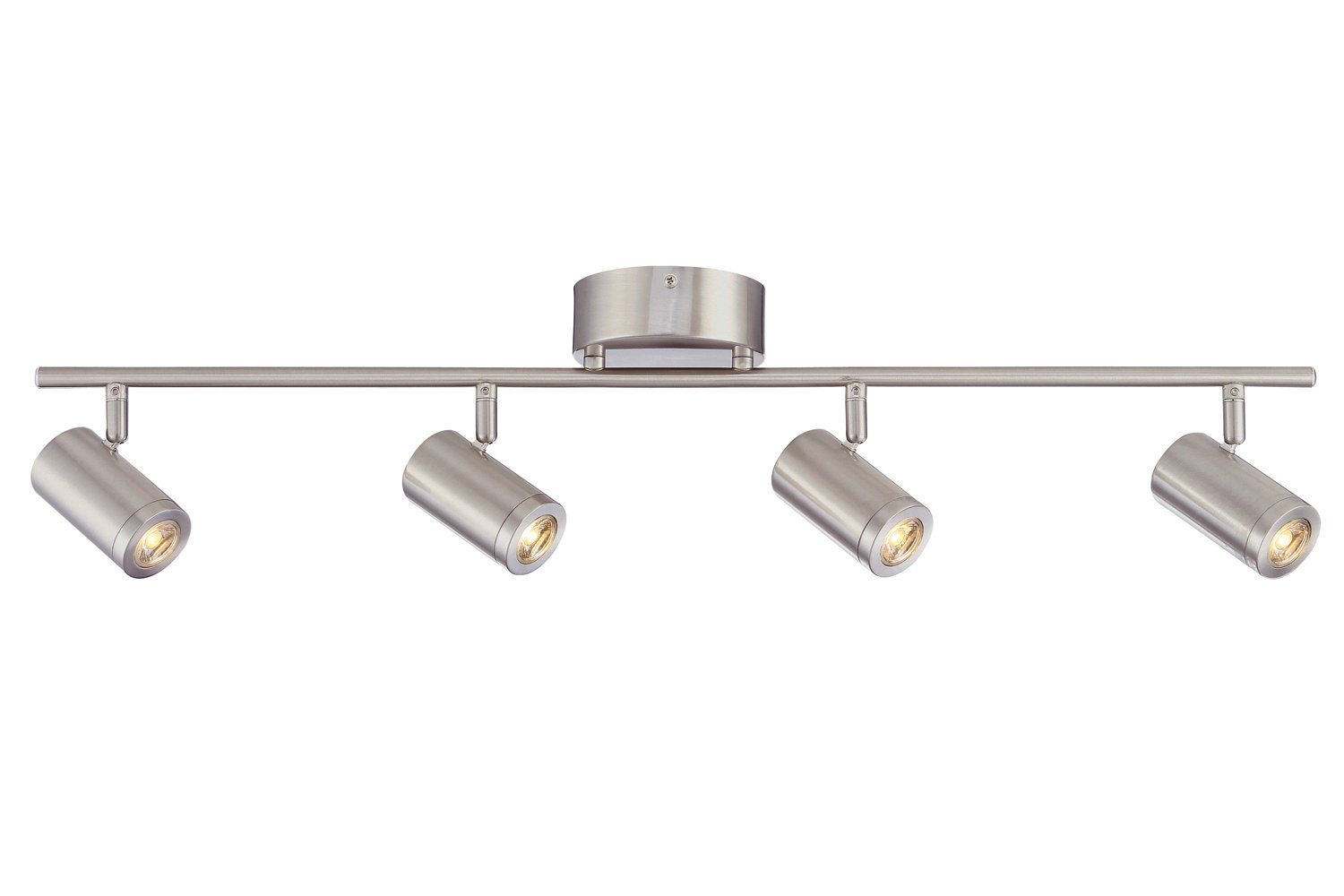sale retailer ada21 059cb Designers Fountain EVT101227A-35 Kit with 4 Led Track Lights 1920 Lumens,  Nickel