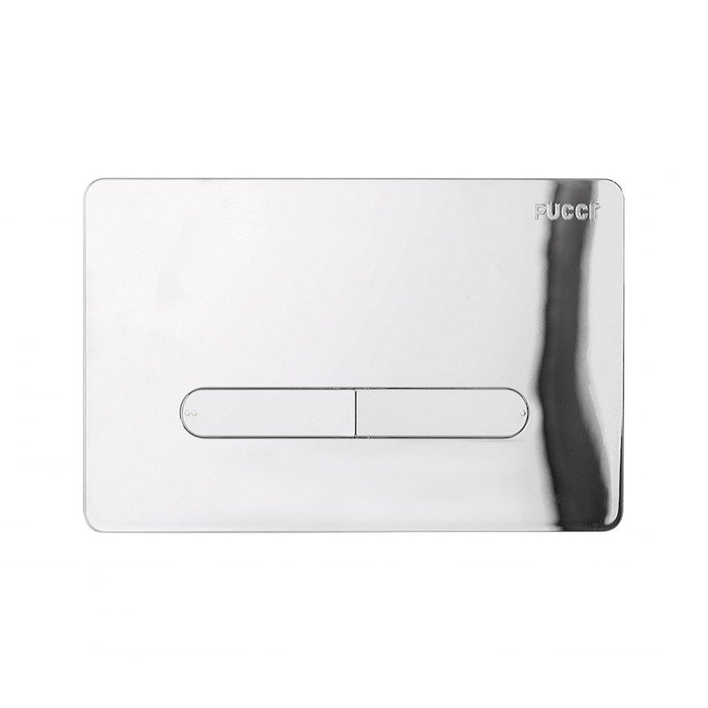 Placca sottile scarico cassetta incasso eco cromata 80130572 pucci 572