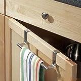 MTSZZF Cupboard Towel Bar Rail Over Door Hanger Hook Kitchen Towel Bathroom Drawer