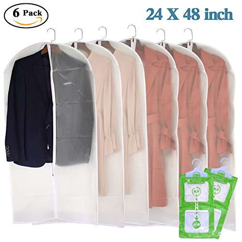 zippered clear garment bags - 7