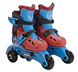 PlayWheels Ultimate Spider-Man Kids Convertible 2-in-1 Skates - Junior Size 6-9