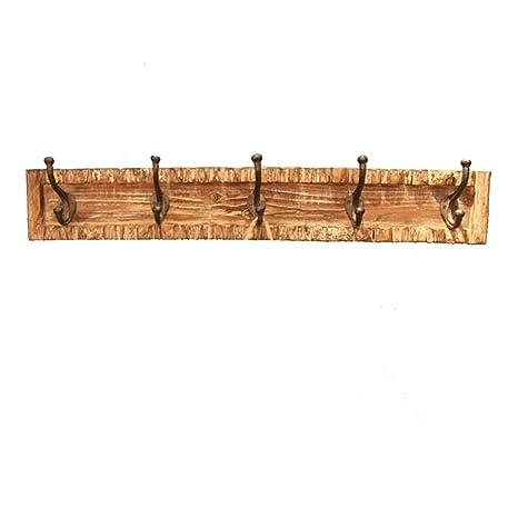 Perchero de pared de estilo rústico de ancho de madera pared ...