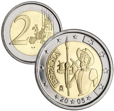 fnmt MONEDA 2 EUROS CONMEMORATIVOS ESPAÑA 2005 DON QUIJOTE: Amazon ...