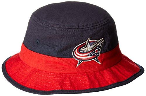 NHL Columbus Blue Jackets SP17 Bucket Hat, Navy, (Blue Ball Bucket)