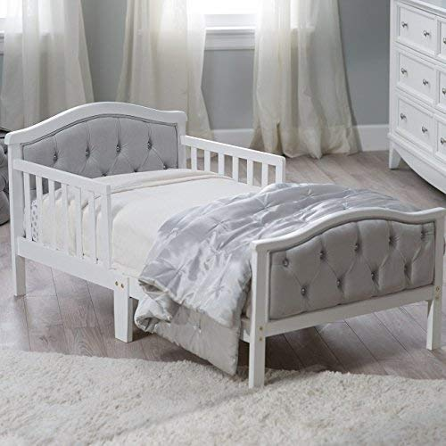 Bedroom Vintage Footboard - Padded and upholstered head and footboard Upholstery is ultra-soft micro-fiber polyester Decorative