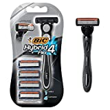 BiC Men's Hybrid Advance 4-Blade Disposable Razor, 4 refillable cartridges