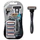 BiC Men's Hybrid Advance 4-Blade Disposable Razor, 4 refillable cartridges