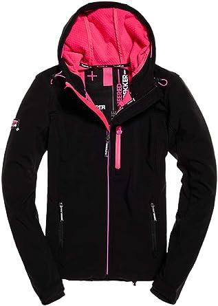 Superdry Womens Hooded Winter SD-Windtrekker Jacket Black
